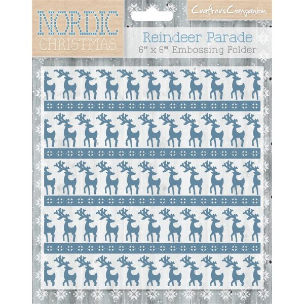A LITTLE BIT NORDIC Crafters Companion Nordic Christmas 6x6 embossing folder
